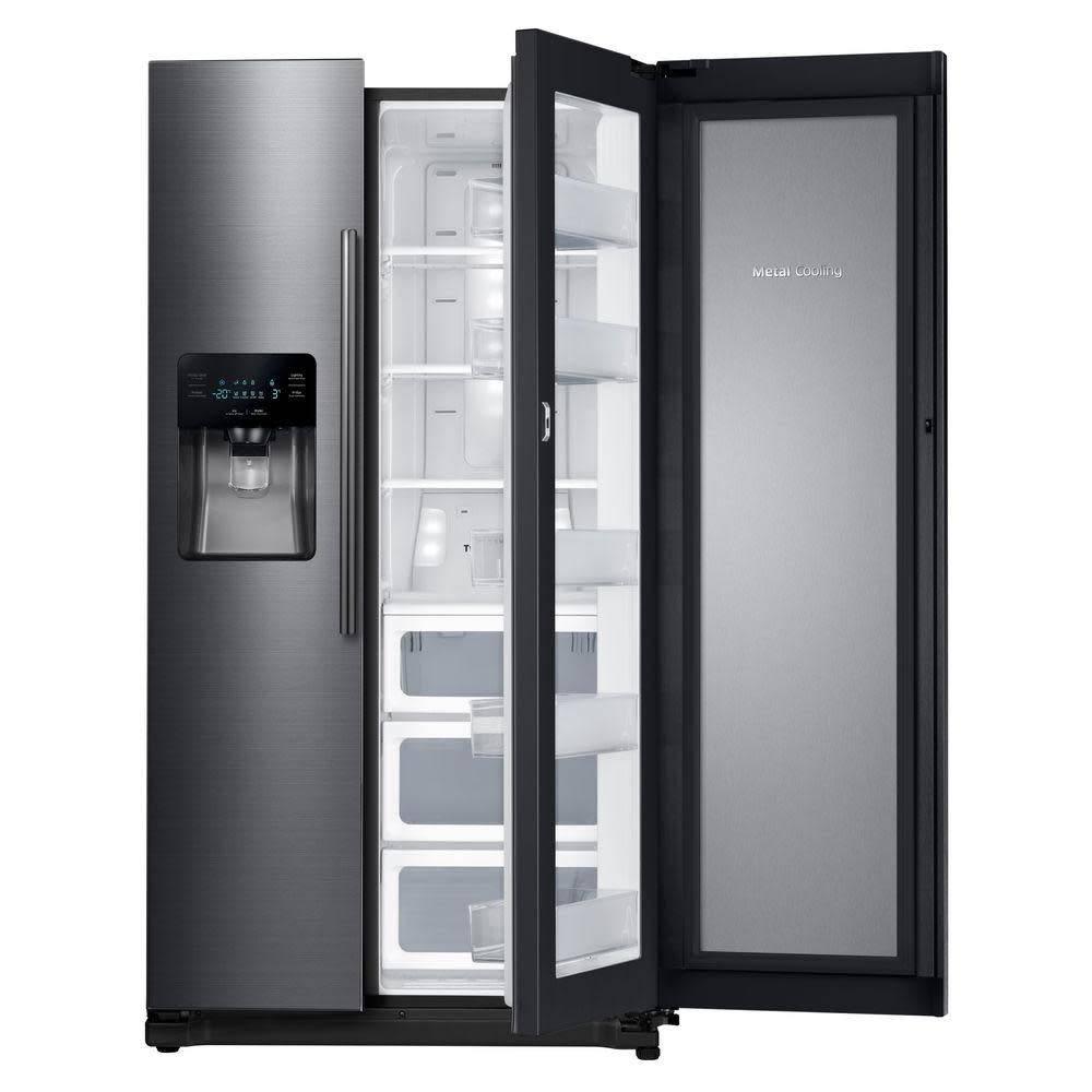 Samsung Samsung 24.7 SxS Refrigerator Black Stainless