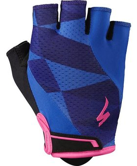 BG Gel Womens Short Finger (Indigo/Neon Pink)
