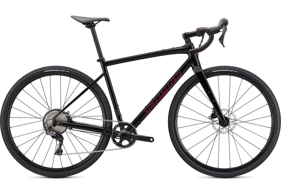 Diverge Comp E5  Gloss Tarmac Black/Satin Maroon/Chrome/Clean 52