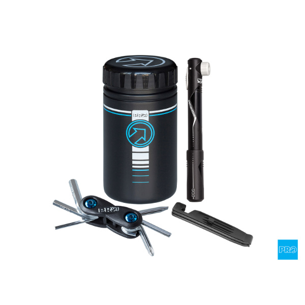 Pro Combi pack- Storage Bottle with Mini Pump, Tool, Tire Levers