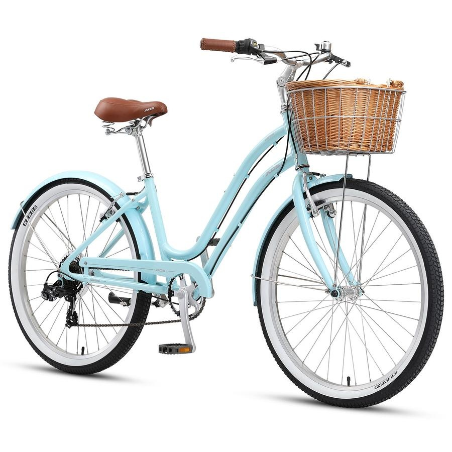 "XDS 26"" Elwood Ladies Beach Cruiser 15"" Pale Blue"
