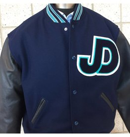 JD Varsity Letterman Leather & Wool Jacket