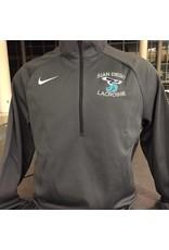 JD Lacrosse Nike Dri-Fit 1/2 Zip, Grey