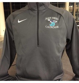 JD Lacrosse Nike Dri-Fit 1/2 Zip, Grey