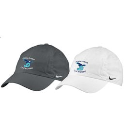 Nike Embroidered Lacrosse Hat with adjustable back.