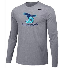 JD Lacrosse Long Sleeve Nike Legend Tee Grey