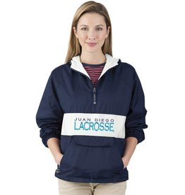 Girls Lacrosse Striped Pullover