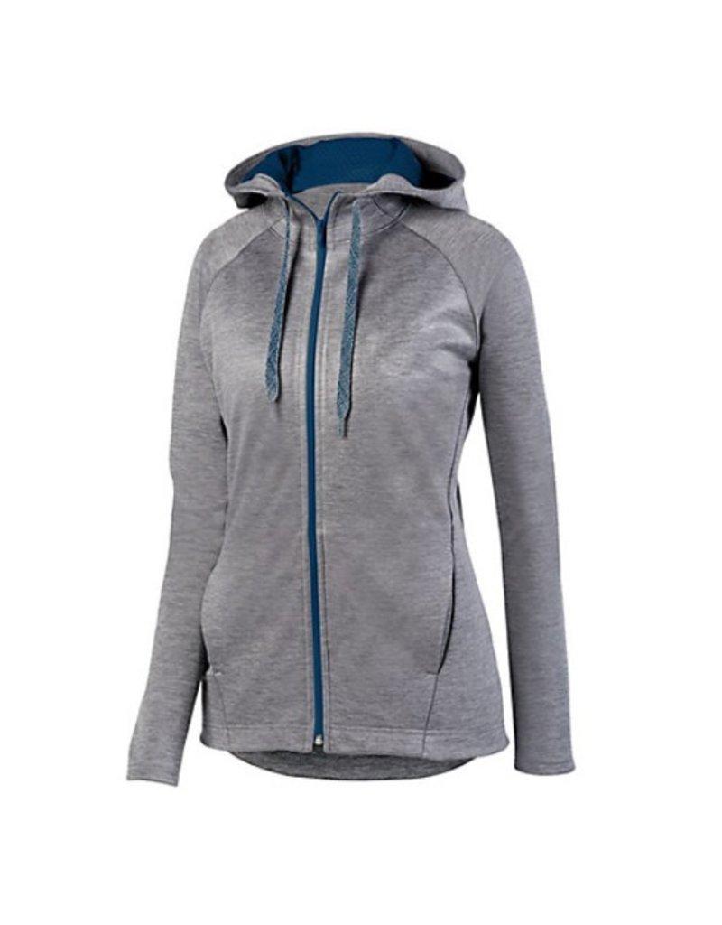 Custom Ladies tonal full zip jacket