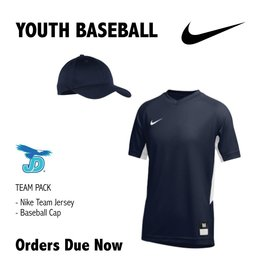 JD Youth Baseball Nike Team Uniform Pack - order now