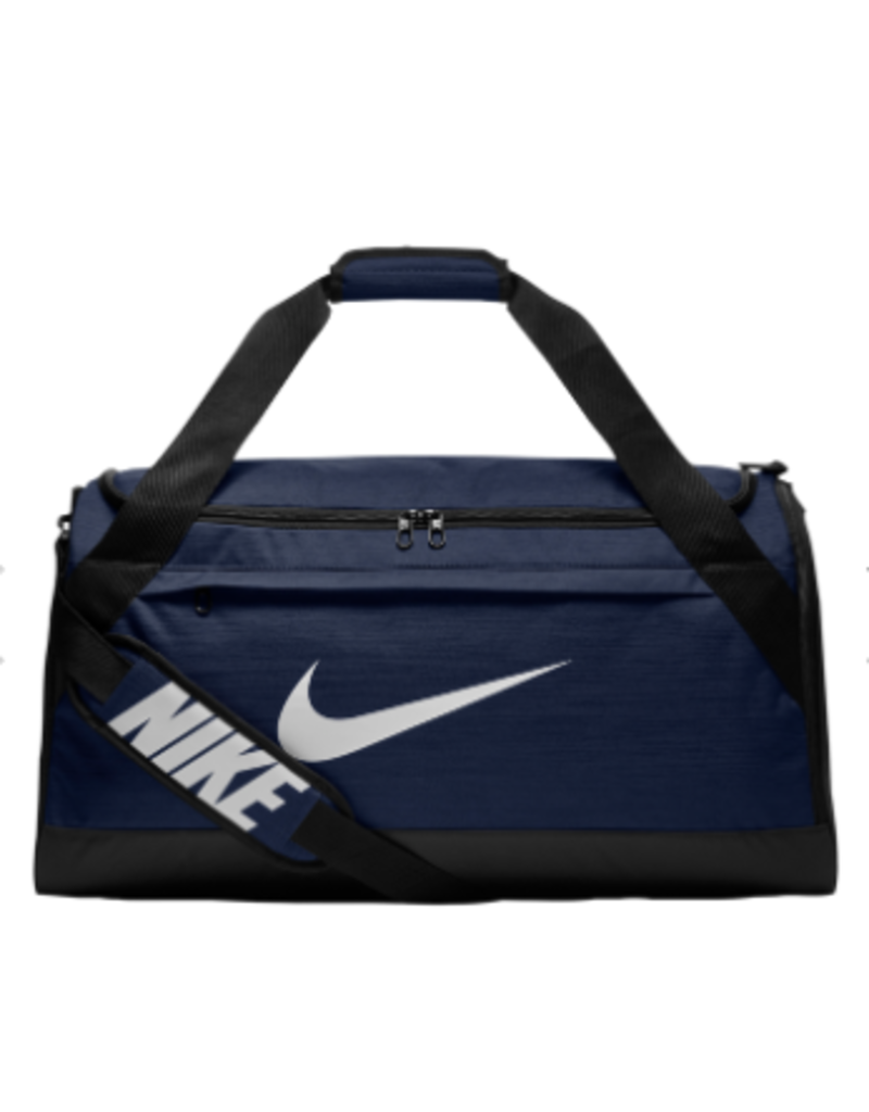 Custom Nike Brasilia Duffle Bag, Navy