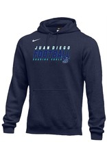 Football Sweatshirt - Nike Fleece Hooded Pullover, JD - Custom, youth & adult sizes