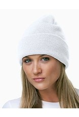 Beanie - JD White Knit Cap