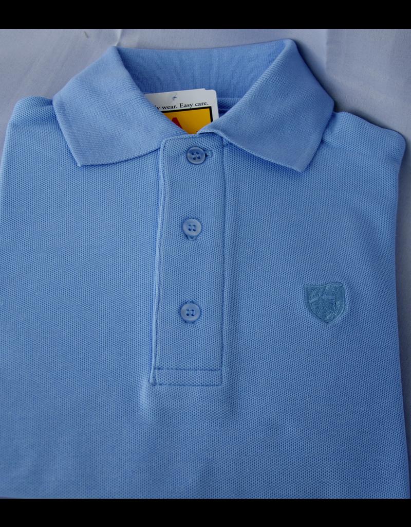 short sleeve lt blue polo