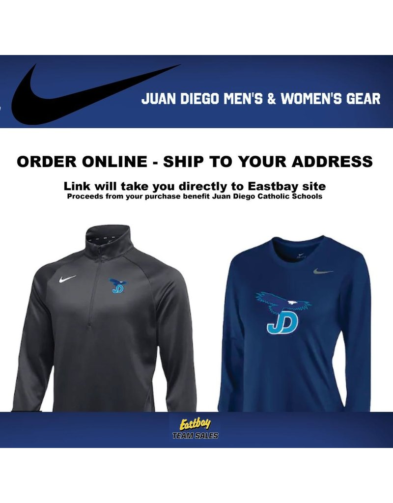Nike Team Store, Juan Diego, Eastbay -  Adult Sizes