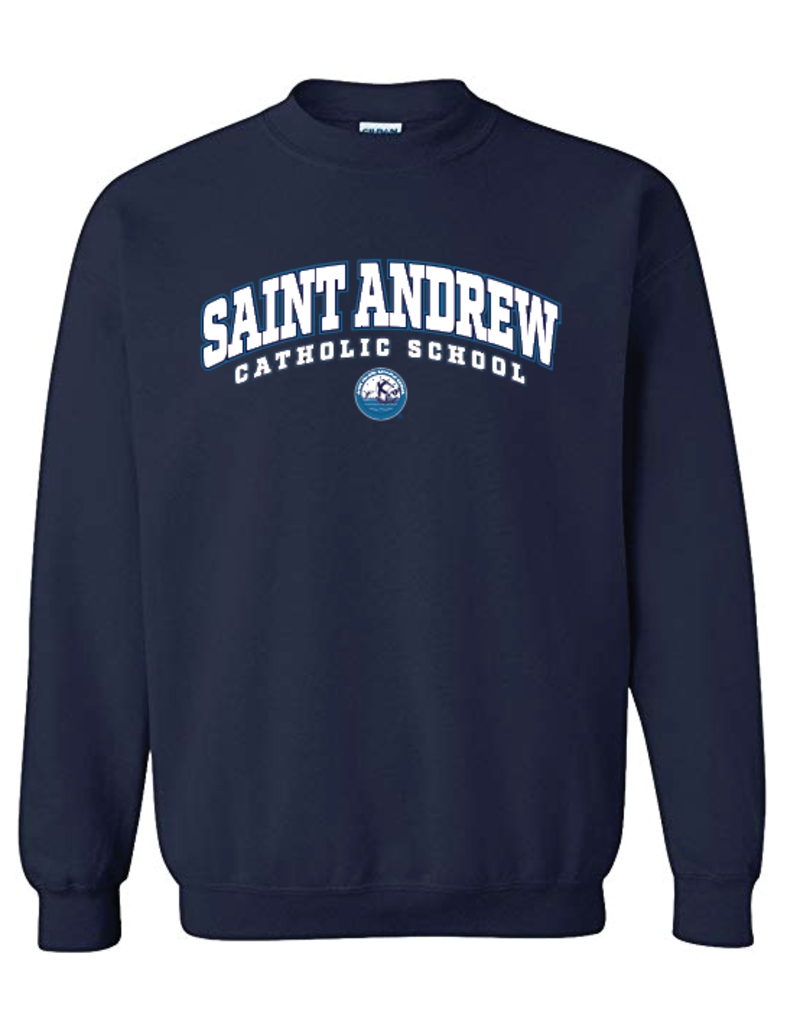 SWEATSHIRT - Saint Andrew Crew Neck Sweatshirt Navy