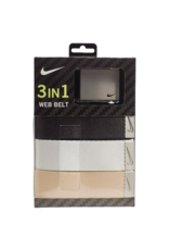 Nike Classic Essentials Web Golf Belt 3 pack