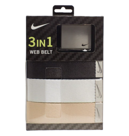 BELT - Nike Classic Essentials Web Golf Belt 3 pack