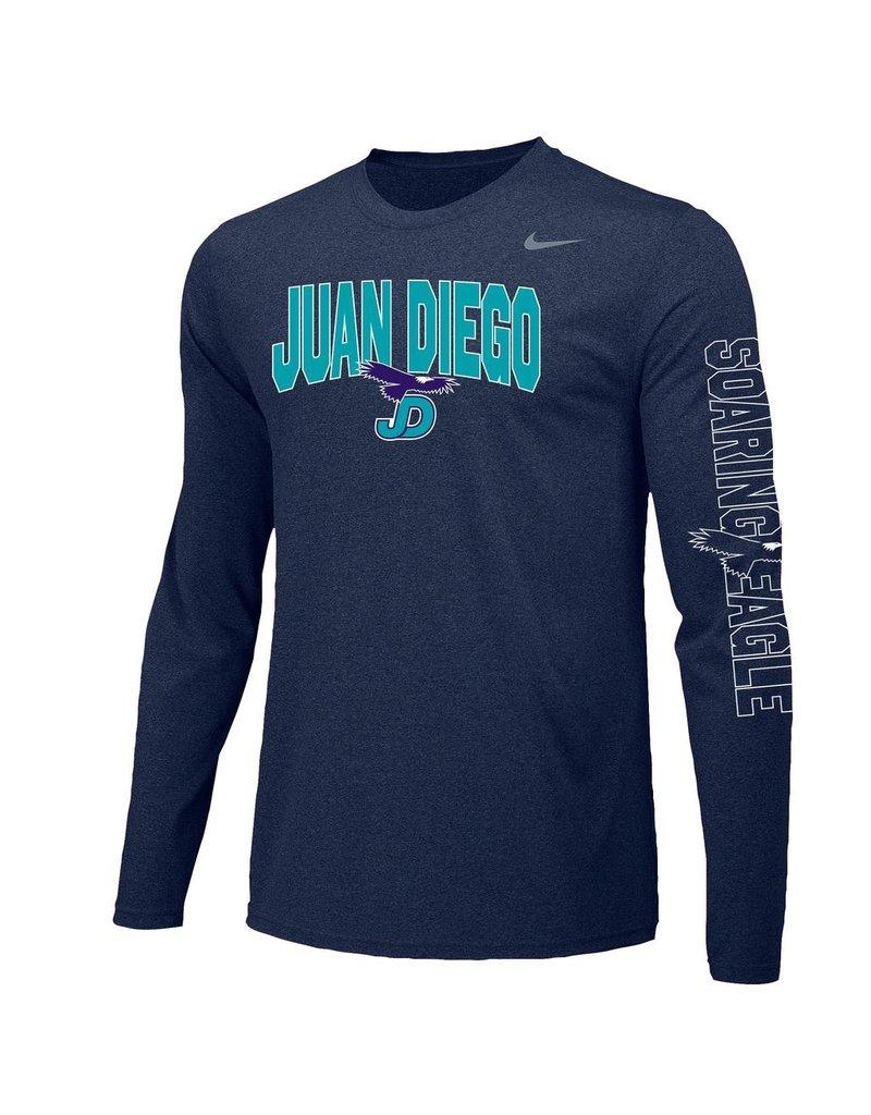 JD Soaring Eagle Spirit - Nike Legend Long Sleeve Shirt with arm detail, Unisex