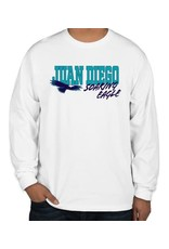 JD Soaring Eagle Spirit - Nike Legend Long Sleeve White Shirt, Unisex