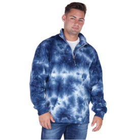 JD Crosswind 1/4 Zip Tie Dye Sweatshirt