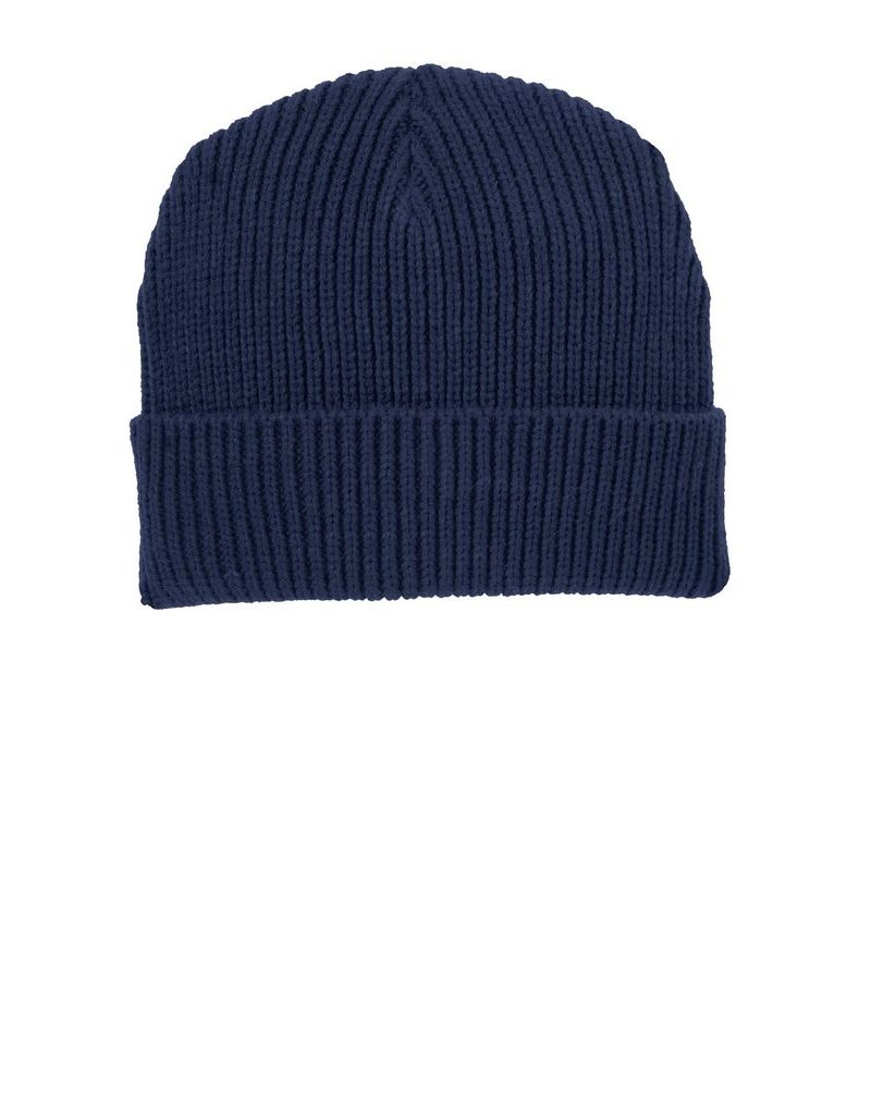 Fleece Navy Beanie
