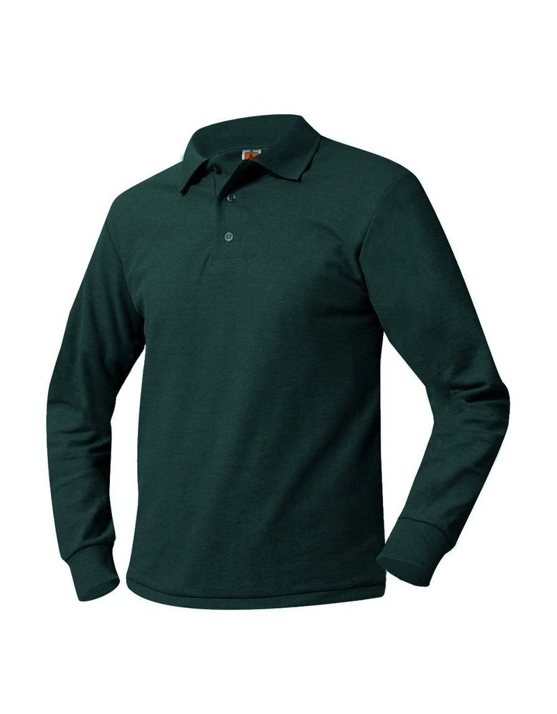 Pique Polo Long Sleeve Shirt