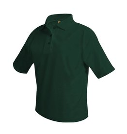 SHIRT - Pique Polo Short Sleeve Shirt, Green, Unisex