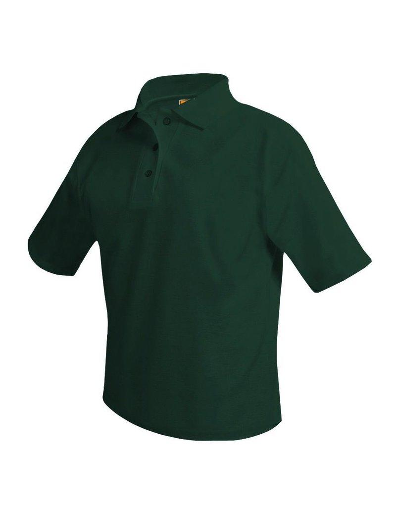 SHIRT - Pique Polo Short Sleeve Shirt, Green, Unisex