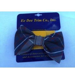SO Bow Tie Barrette, Plaid