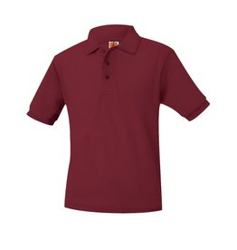 SHIRT - Pique Polo Short Sleeve Shirt, Cardinal, Unisex