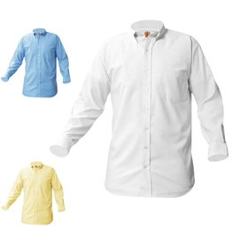 SHIRT - Oxford Shirt, Long Sleeve, Boys