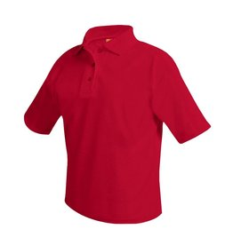 SHIRT - Pique Polo Short Sleeve Shirt, Red, Unisex