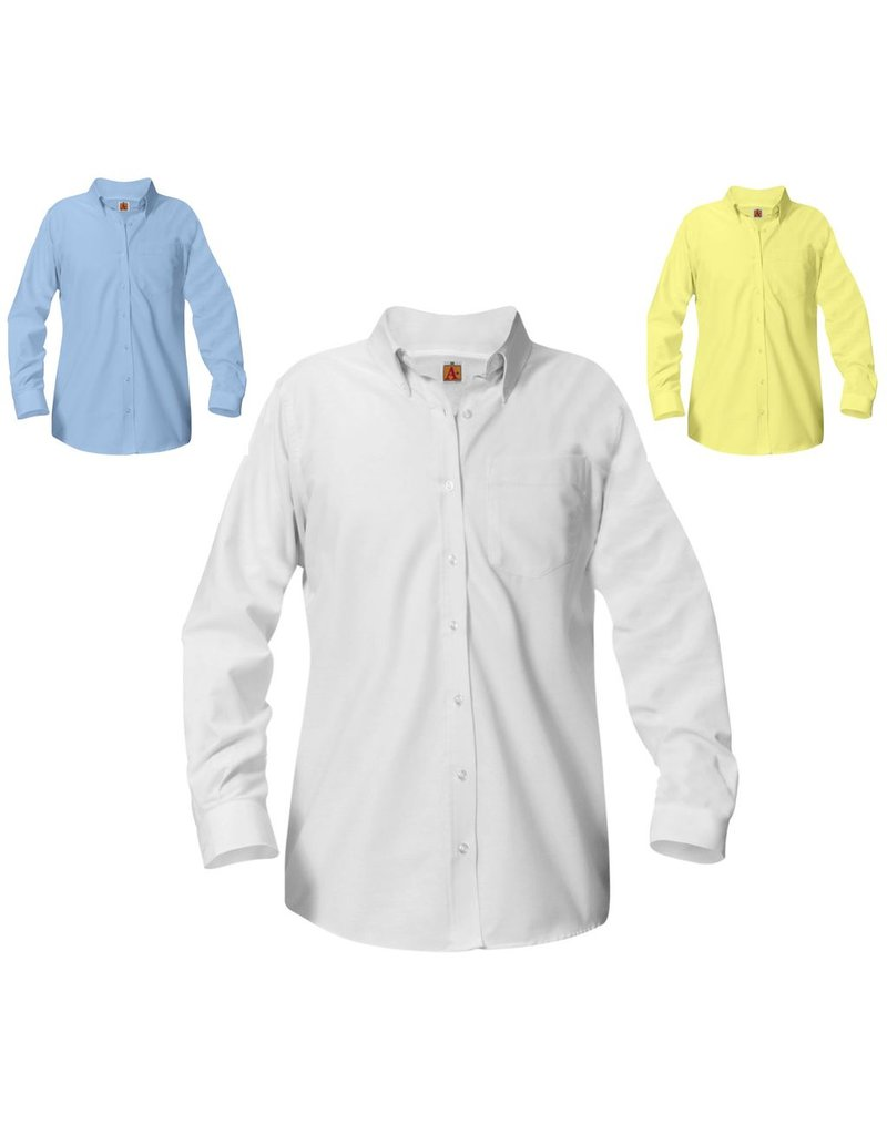 SHIRT - Oxford Long Sleeve Shirt, Girls