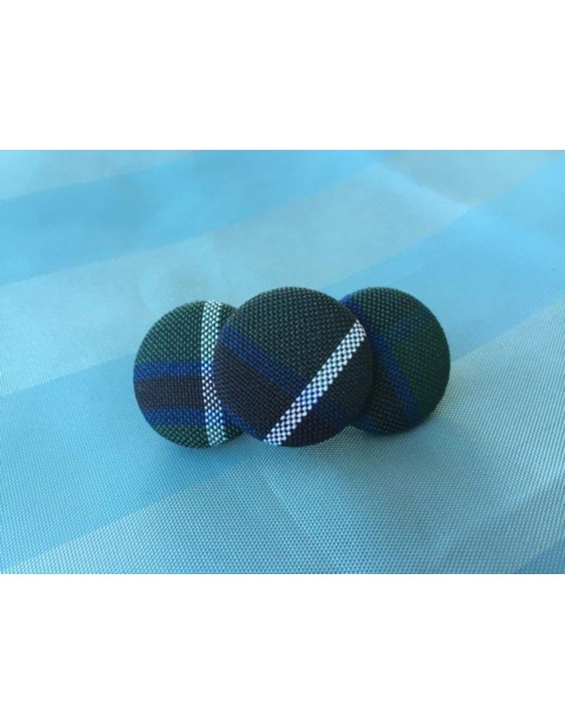 SJB 3 Button Barrette, Plaid