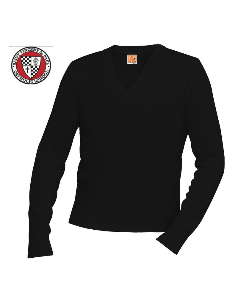 Final Sale - No refund, no exchange. Saint Vincent Pullover Long sleeve sweater, navy