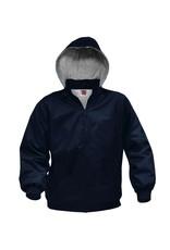 Water Repel Coat Detachable Hood, Navy
