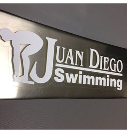 JD Swimming Decal