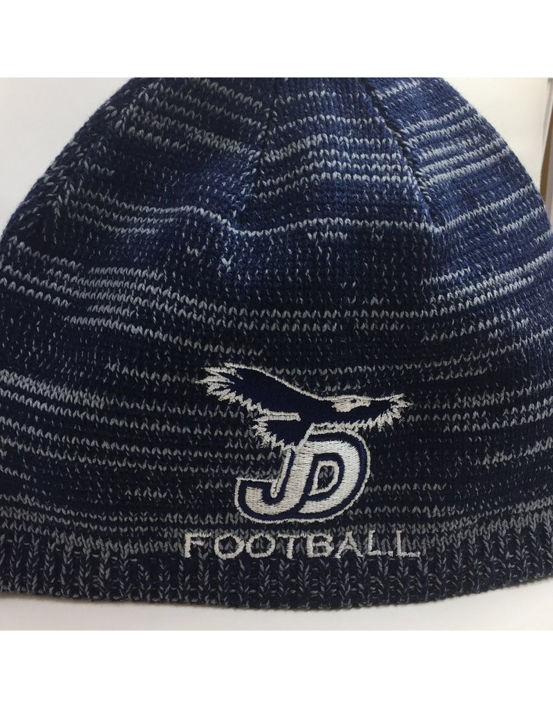 Beanie - JD Football Navy/Grey Marbled Beanie