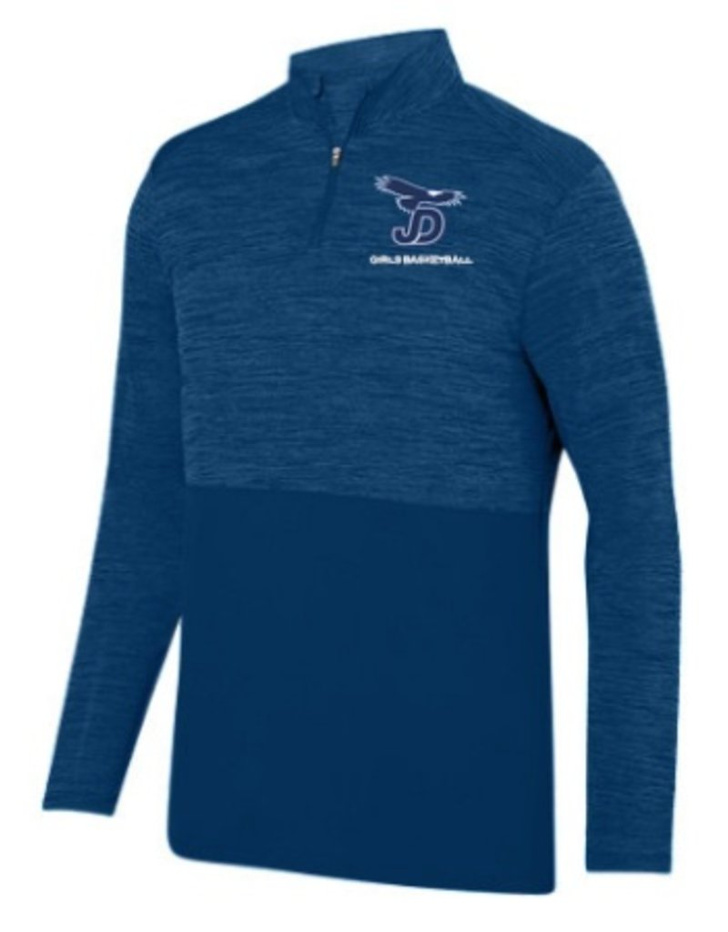 JD Girls Basketball Men's Shadow Tonal Heather Quarter Zip