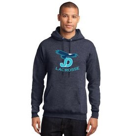 Lacrosse - JD Lacrosse Custom Heathered Hooded Sweatshirt