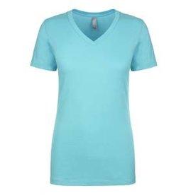 SilverLine - Custom Ladies Turquoise V-neck Tee