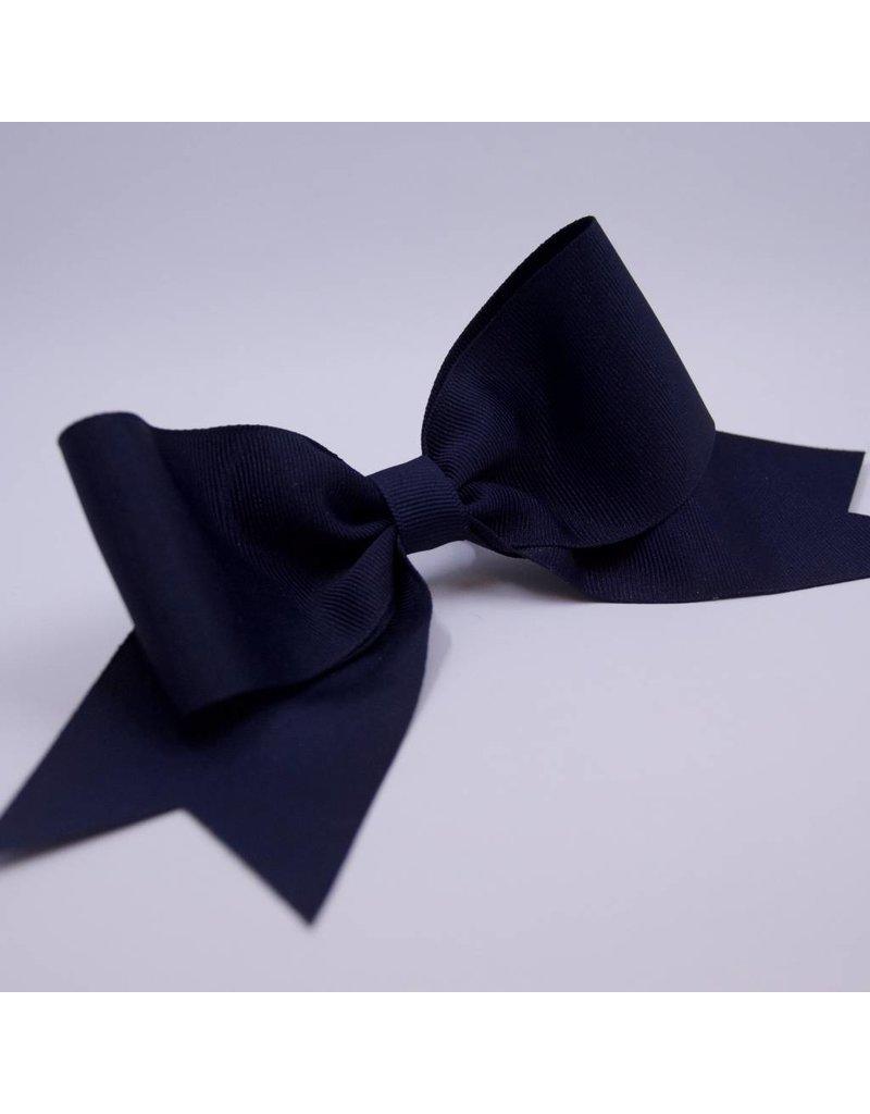 Navy Ribbon Bow Ponytail