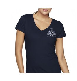 2018 Softball Navy Vneck Tee