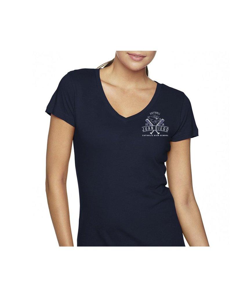 Softball - Ladies V-neck Tee