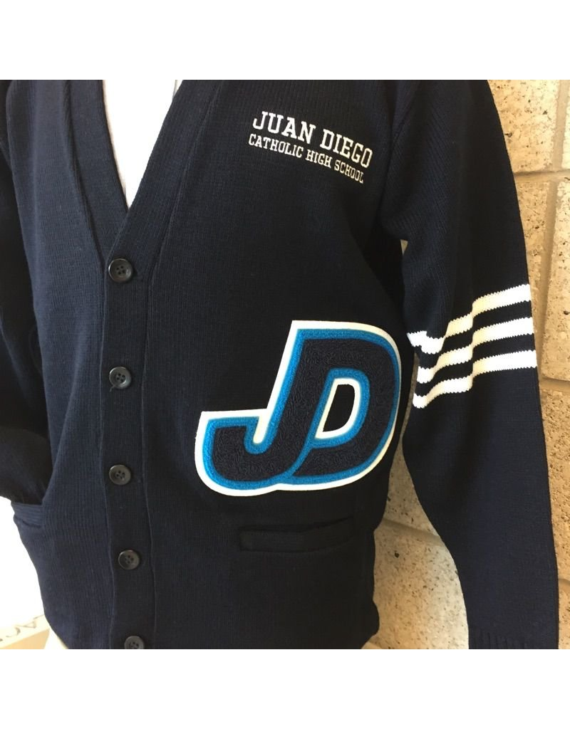 JD Academic Achievement Letter Cardigan Sweater JDCHS Letter Sweater