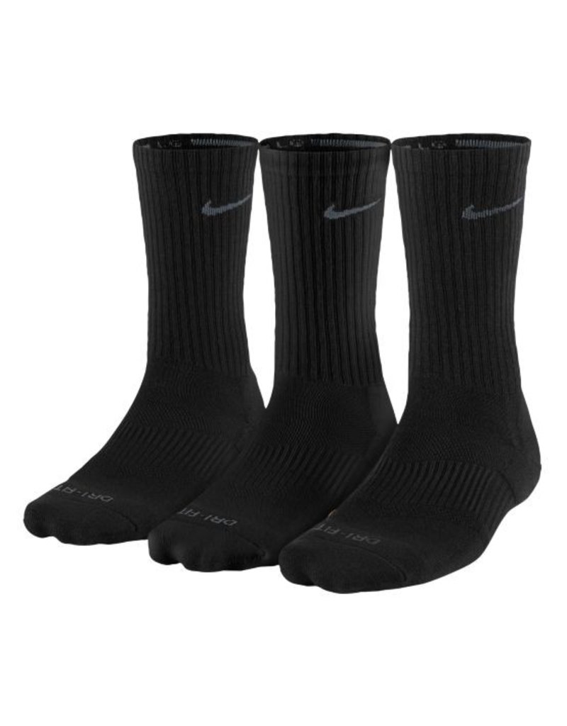 Nike 3pk Dri-Fit 1/2 Crew Sock