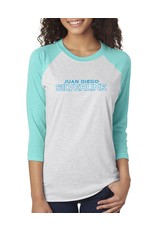 Silverline Baseball Tee with two color logo on front