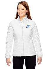 Ladies Columbia White embroidered JD Jacket