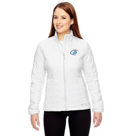 Ladies Columbia White embroidered JD Jacket