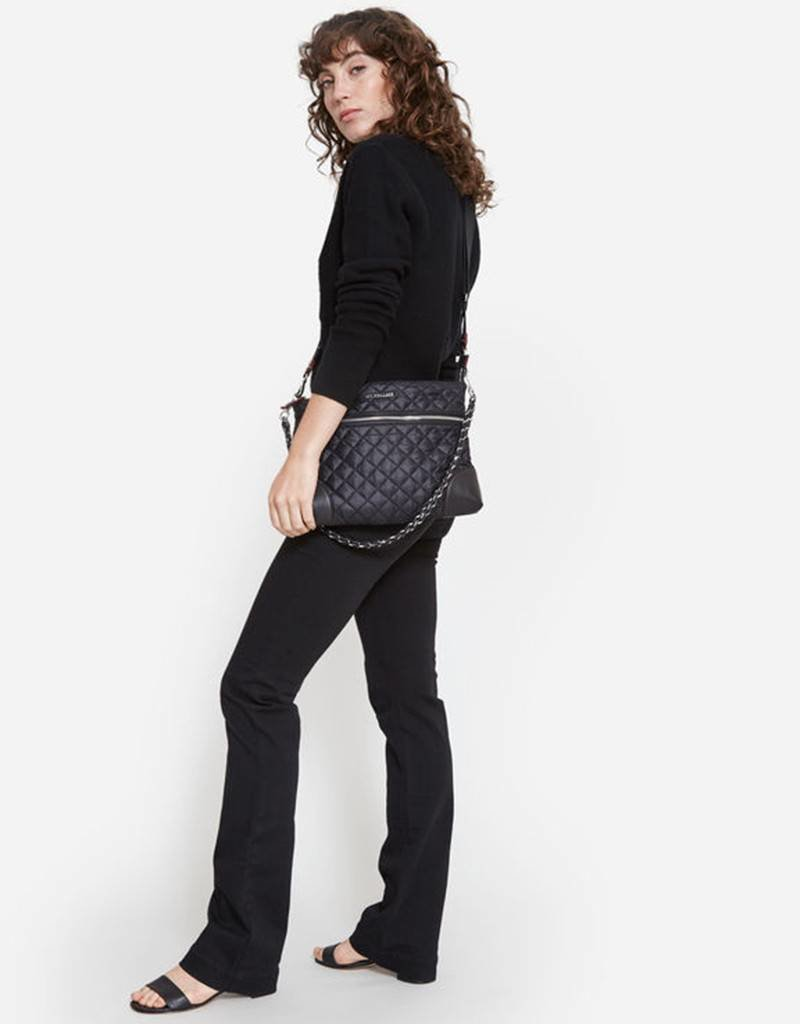 MZ Wallace Crosby Crossbody - Black/Silver